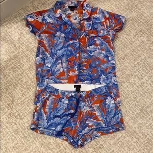 J. Crew Shorts Pajama Set